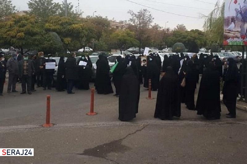 تجمع اعتراض آمیز مردم قزوین در محکومیت ترور شهید فخریزاده