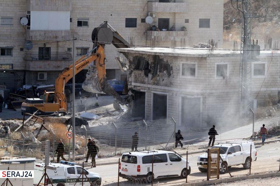 تخریب ۵۲ خانه در فلسطین توسط ارتش صهیونیستی