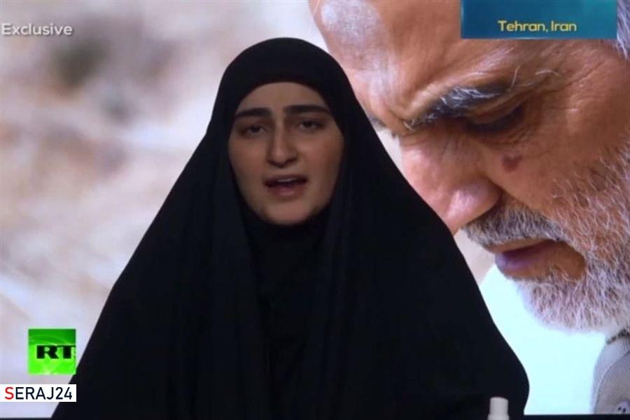 ویدئو/فرزند سردار شهید قاسم سلیمانی: بین بایدن و ترامپ تفاوتی وجود ندارد
