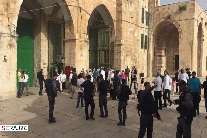 هتاکی ۹۰ صهیونیست به مسجدالاقصی