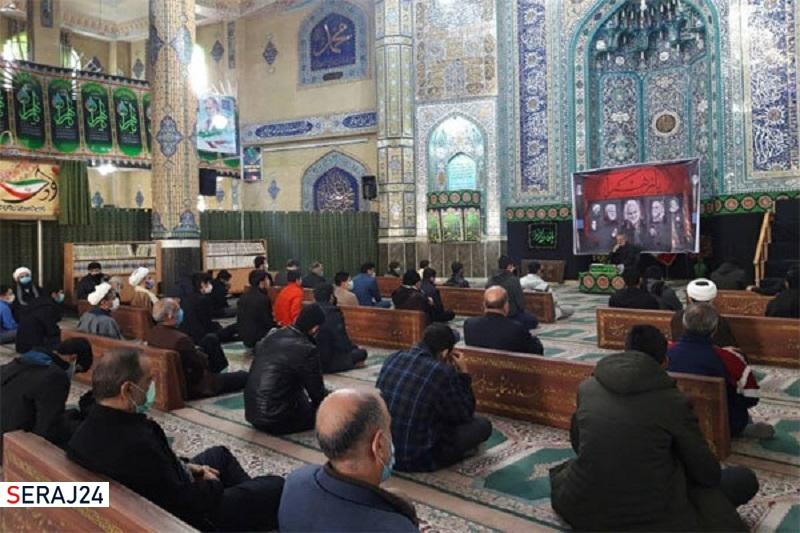 آیین سوگواری شهادت حضرت زهرا(س) در ورامین برگزار شد