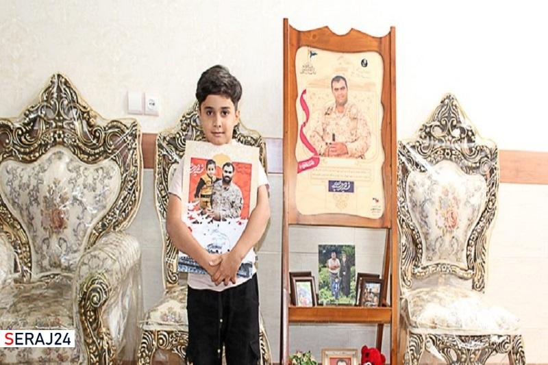 برآورده شدن آرزوی فرزند شهید مدافع حرم