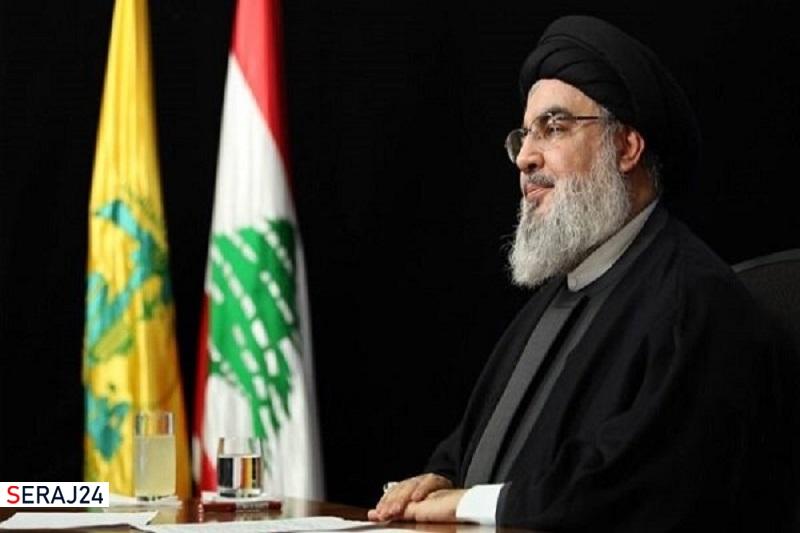 سید حسن نصرالله دبیر کل حزب الله لبنان سخنرانی می کند