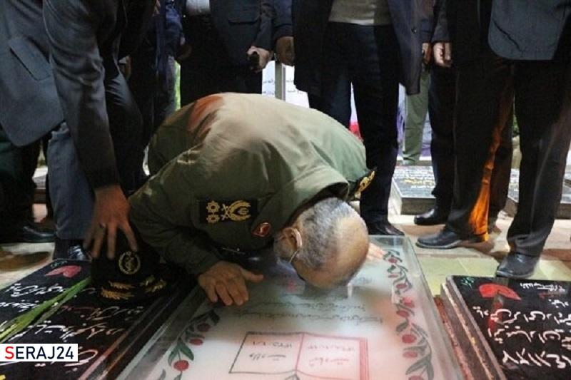سردار سلامی به مقام شامخ سردار شهید سلیمانی ادای احترام کرد