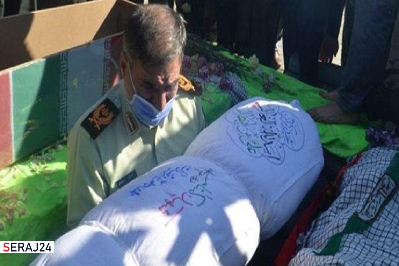 پیکر مطهر یک شهید گمنام در ستاد فرماندهی انتظامی کرمانشاه آرام گرفت
