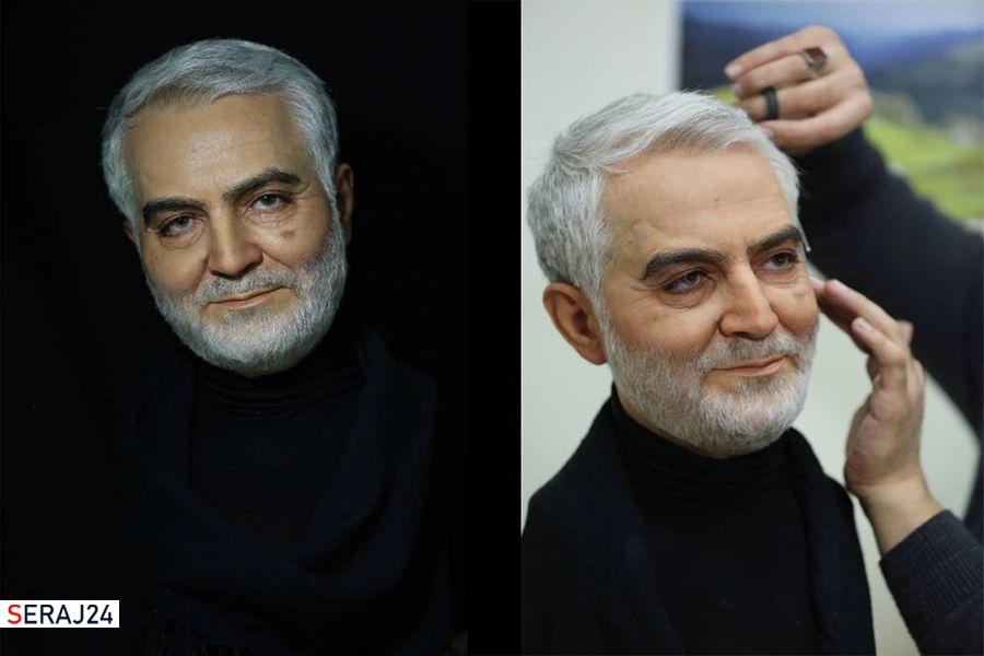 ساخت تندیس حاج قاسم به دست هنرمند مجسمهساز