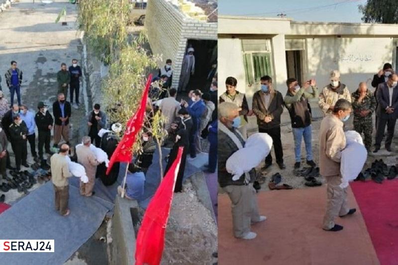 تکریم پیکر۴۰ شهید تازه تفحص شده در معراج شهدای مهران