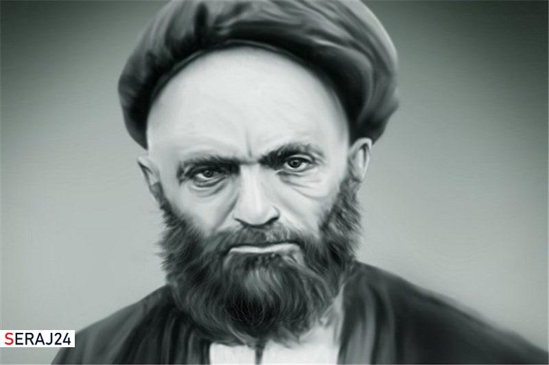 عکس/نقاشی چهره آیت الله سید علی قاضی طباطبایی (ره) در سن ۲۷ سالگی