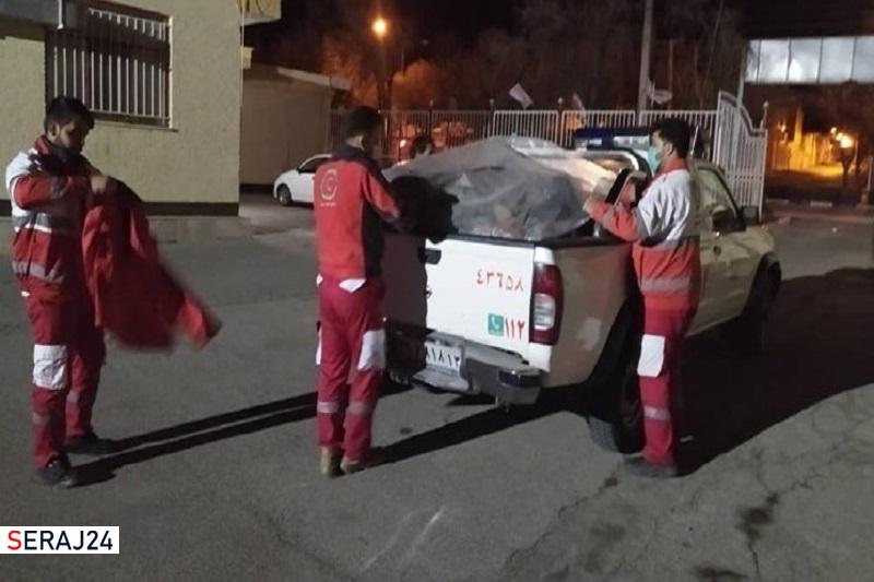 ارسال 200 تخته چادر امدادی به سی سخت توسط هلال احمر اصفهان