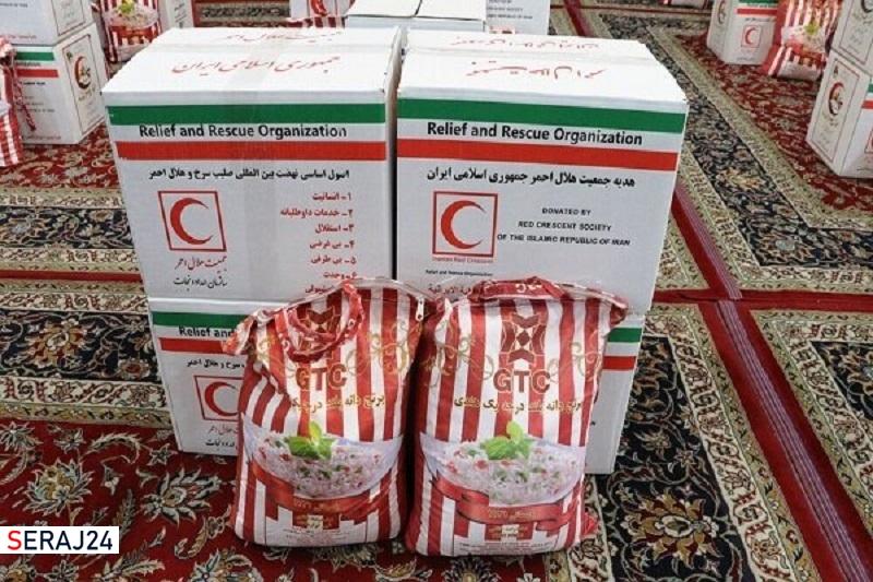 ۳۵۰ بسته معیشتی در قالب طرح عیدانه در خراسان شمالی توزیع شد
