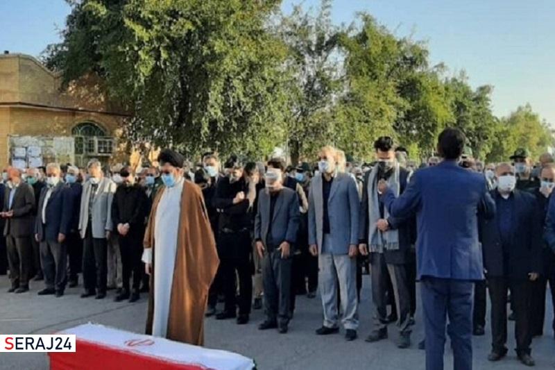 پیکر فرمانده دوران دفاع مقدس در دزفول تشییع شد