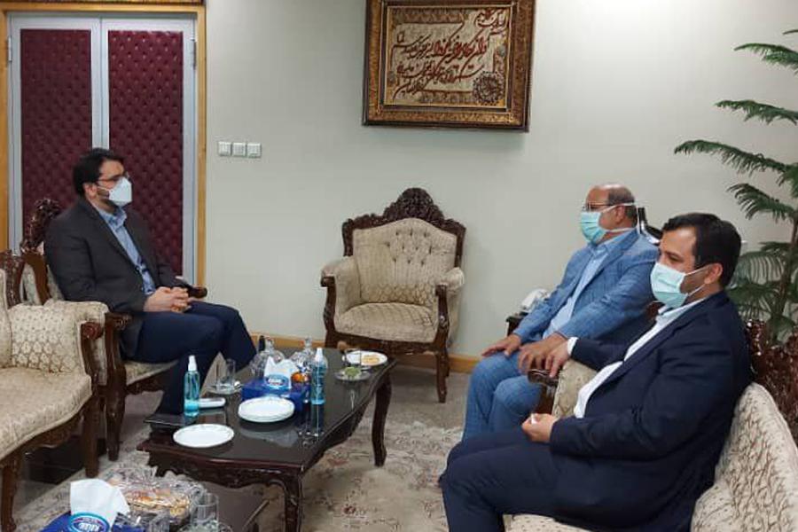 دیدار فرمانده ستاد مقابله با کرونا در کلانشهر تهران با رئیس کل دیوان محاسبات کشور