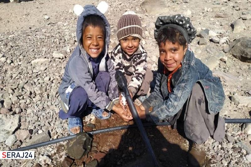آبرسانی به روستای چاه قربان شهر بزمان به همت یک گروه جهادی