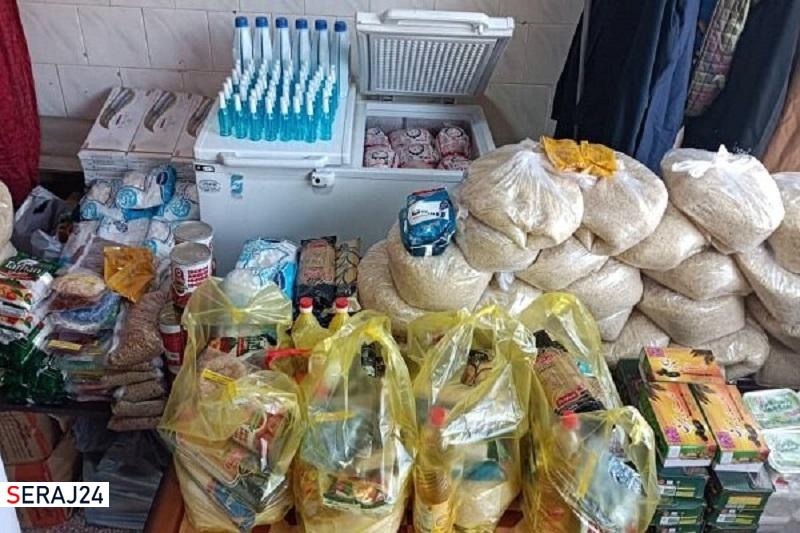 اقدام جهادی یاران آسمانی در توزیع بستههای معیشتی در کرمانشاه