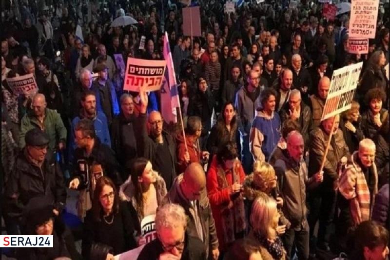 تظاهرات مجدد علیه نتانیاهو در تل آویو