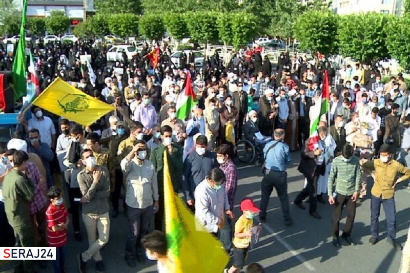 راهپیمایی خودجوش کرجیها در محکومیت جنایات صهیونیستها