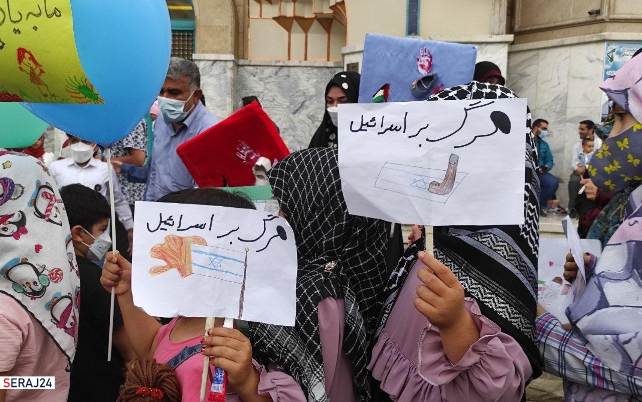 گرامی داشت ۶۶ کودک غزه در تهران/ بچه های ایران با کودکان فلسطینی یک دل شدند+عکس