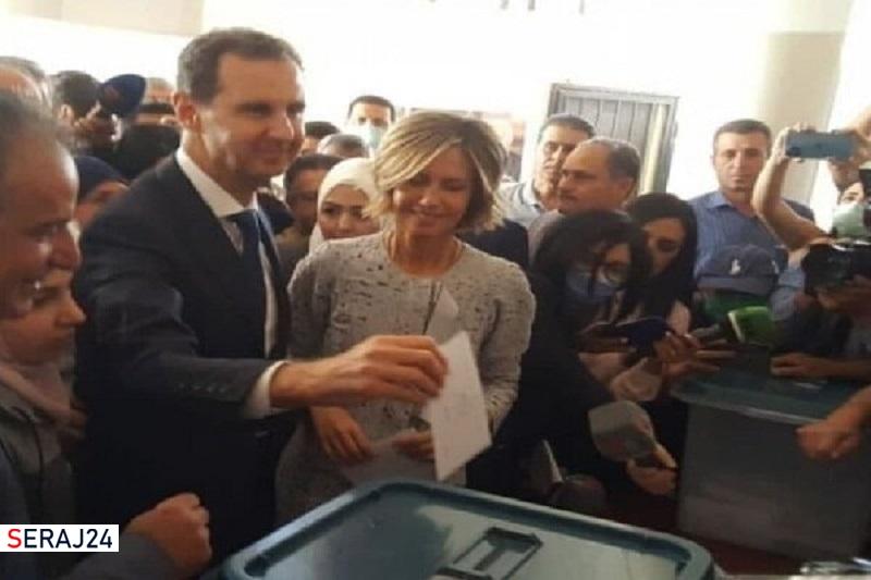 «بشار اسد» رأی خود در انتخابات ریاست جمهوری را به صندوق انداخت