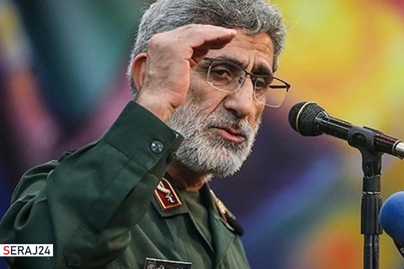 سردار قاآنی: رژیم صهیونیستی باید به فکر ترک فلسطین باشد