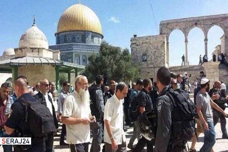 شهرک نشینان صهیونیست بار دیگر به «مسجدالاقصی» یورش بردند