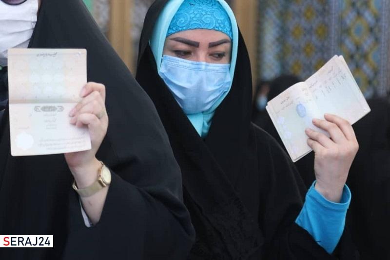 تصویر/حضور پر شور  مردم میدان در حرم حضرت معصومه (س)