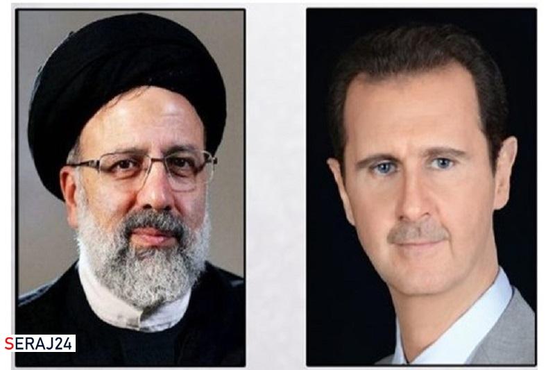 بشار اسد پیروزی حجت الاسلام رئیسی را تبریک گفت