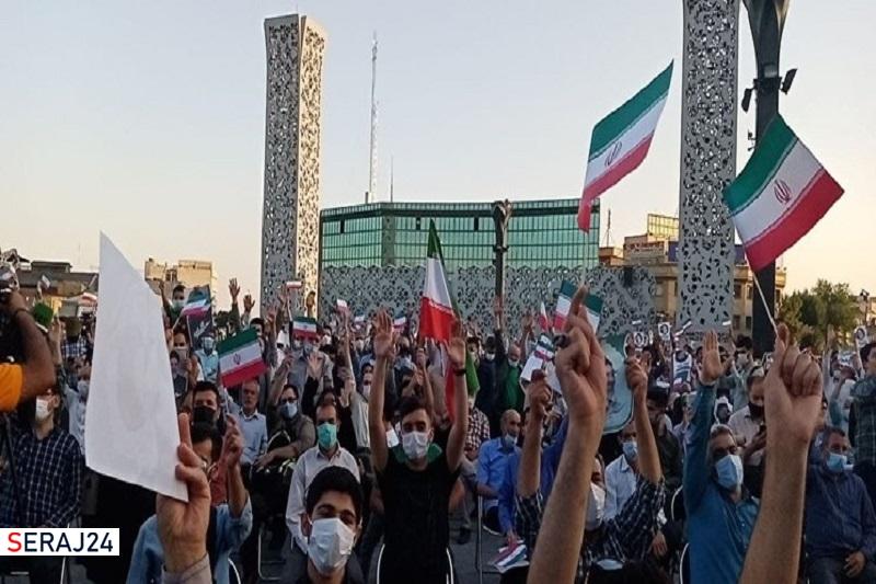 جشن پیروزی هواداران آیتالله رئیسی در میدان امام حسین(ع) برگزار شد