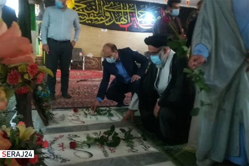 آیین گلباران مزار شهدا ورامین برگزار شد