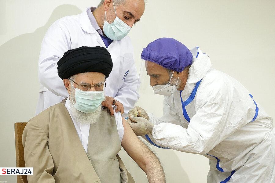 رهبر انقلاب نوبت اول واکسن ایرانی کرونا را دریافت کردند/آیت الله خامنه ای: باید این افتخار ملی را پاس بداریم