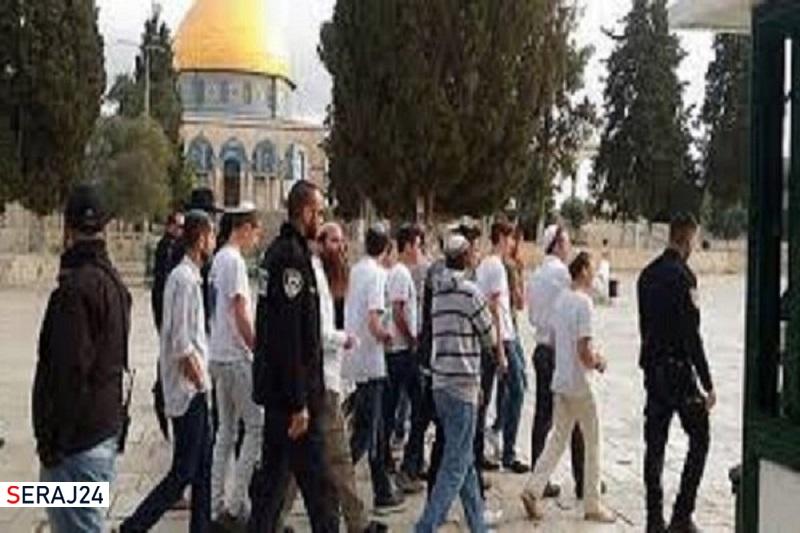 شهرک نشینان صهیونیست به «مسجدالاقصی» یورش بردند