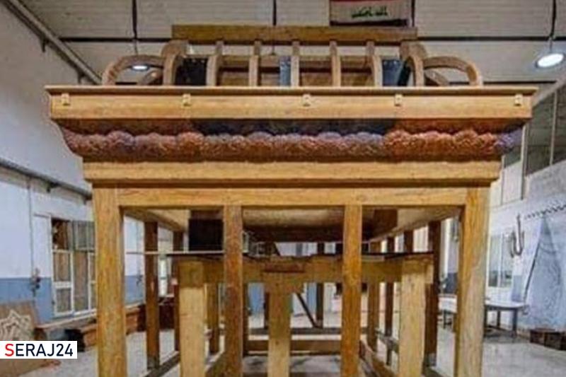 ساخت ضریح جدید حرم حضرت زینب (س) در کربلا +عکس