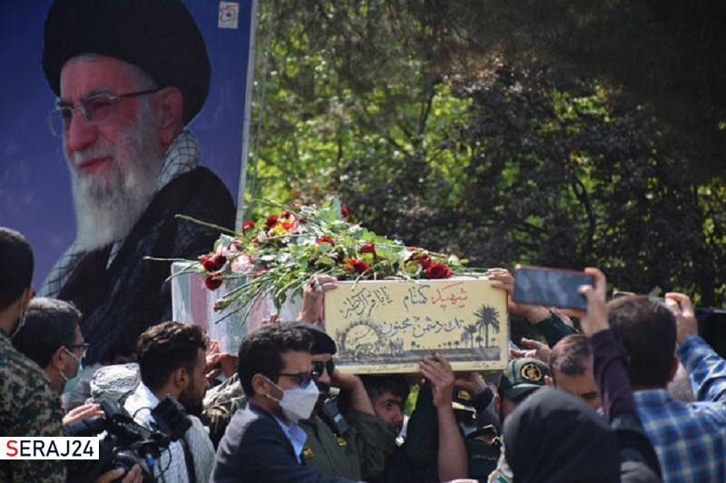شهید گمنام دفاع مقدس در یاسوج تشییع وخاکسپاری شد
