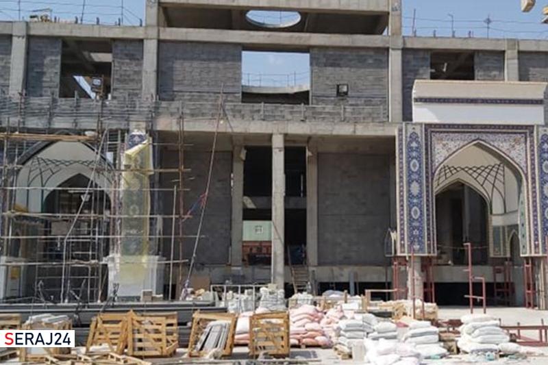 نمای جدید تل زینبیه که ایرانیها طراحی اش کردند+عکس