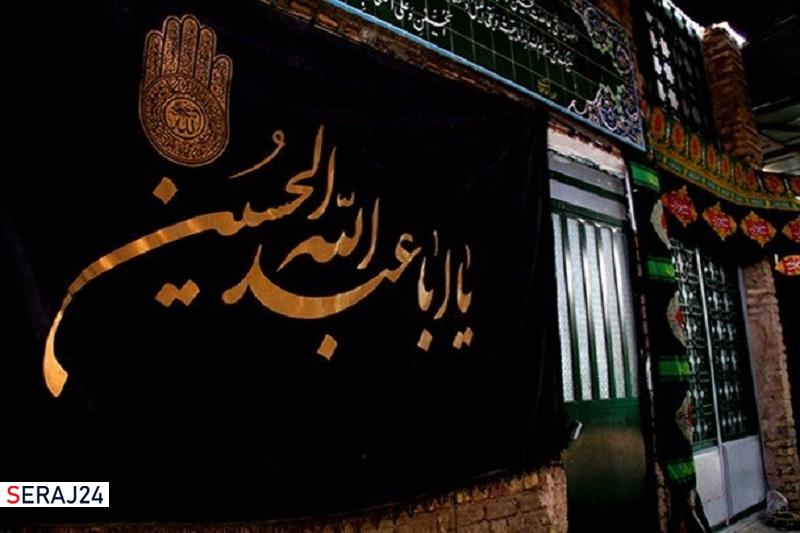 اجرای پویش نصب پرچم سیاه در محلات گرگان