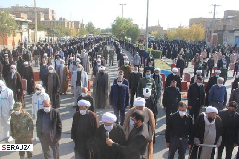 مراسم تشییع و تدفین پیکر آیت الله موسوی نژاد در مرودشت برگزار شد