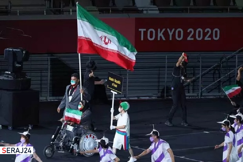 رژه کاروان«سردار دلها»در پارالمپیک