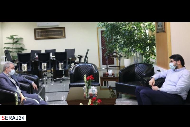 دیدار وزیر جدید صنعت - معدن - تجارت با دکتر بذرپاش