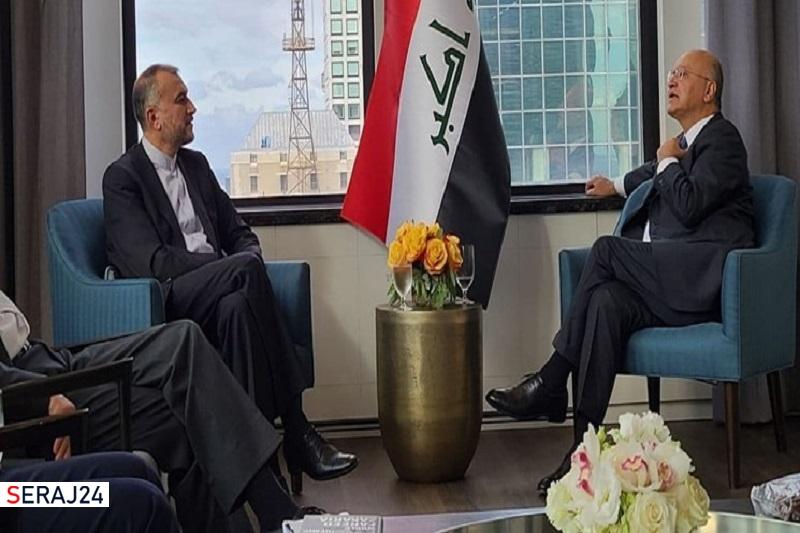امیرعبداللهیان با رئیسجمهور عراق دیدار کرد