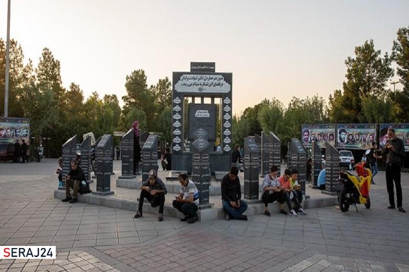 زیارت شهدای لشکری که یادگار حاج احمد متوسلیان بود +عکس
