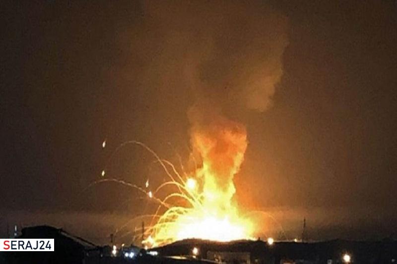 حمله موشکی به مخازن سلاح ائتلاف سعودی در مأرب