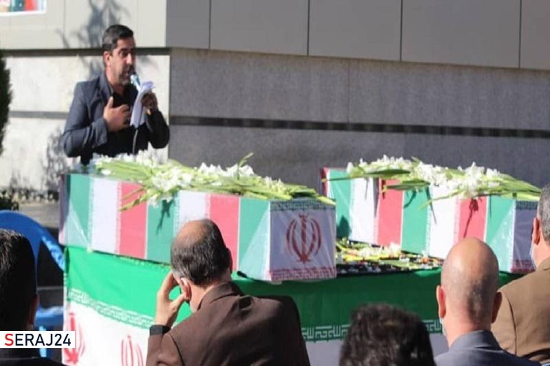 مراسم تشییع پیکر دو شهید گمنام در پردیس برگزار شد