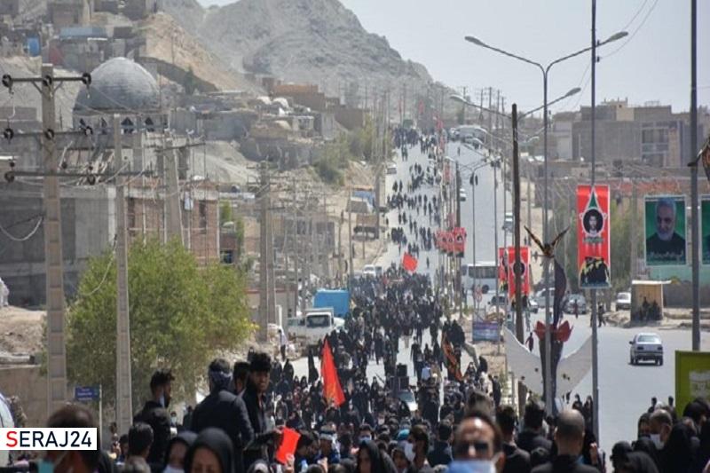 مراسم نمادین پیادهروی اربعین حسینی زاهدان