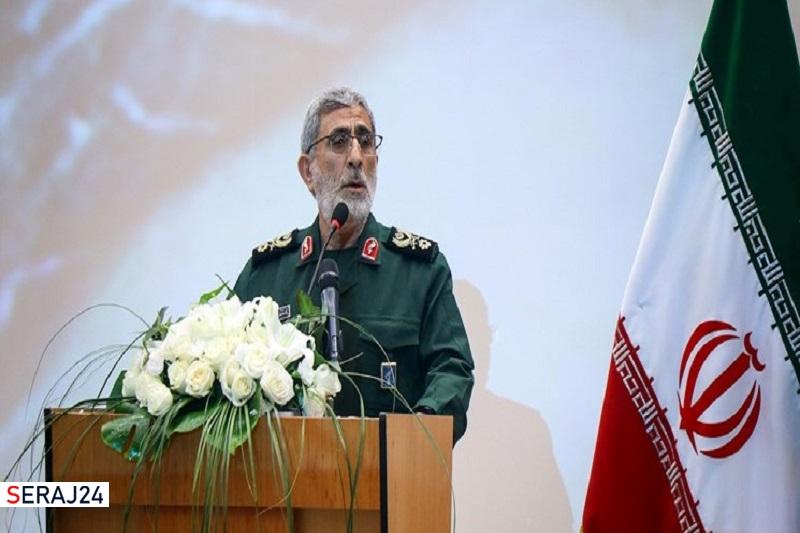 حضور سردار قاآنی در وزارت خارجه و تبریک به امیرعبداللهیان
