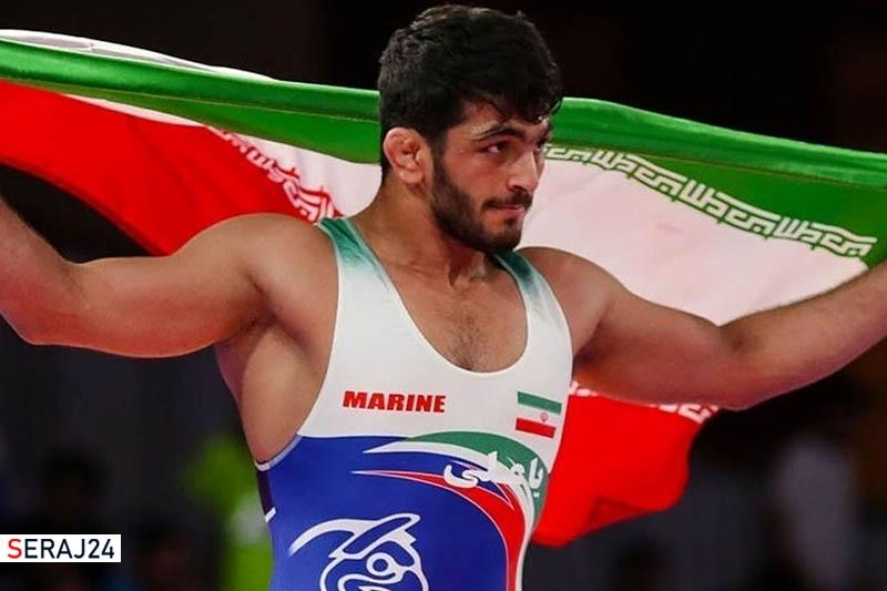 قهرمانی حسن یزدانی   تیلور هم در برابر پهلوان ایرانی به زانو درآمد