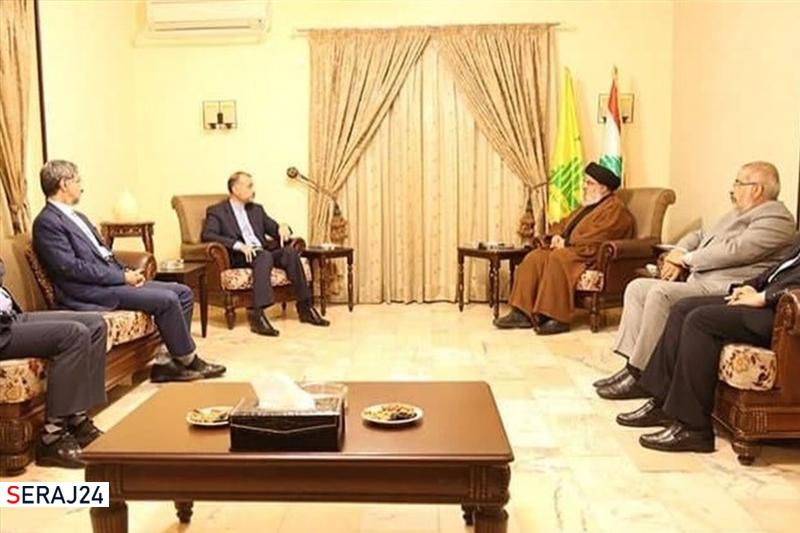 دیدار امیر عبداللهیان با سید حسن نصرالله در بیروت