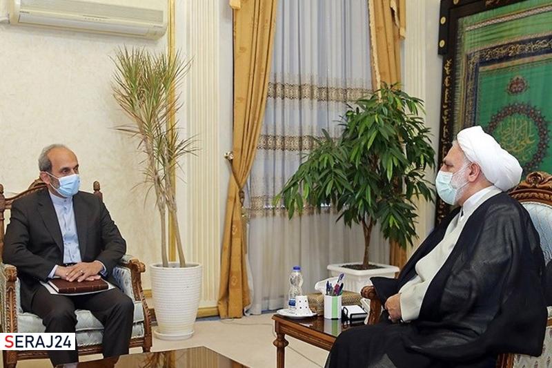 دیدار رئیس رسانه ملی با رئیس قوه قضائیه/ اژهای: صداوسیما میتواند به پیشگیری از جرم کمک کند