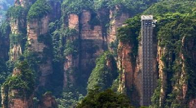 بلندترین آسانسور شیشه ای جهان +عکس