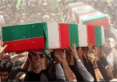 پیکر مطهر ۴ شهید گمنام در بوشهر تشییع شد