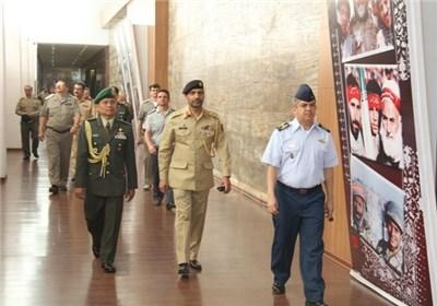 وابستگان نظامی کشورهای خارجی از باغ موزه دفاع مقدس بازدید کردند