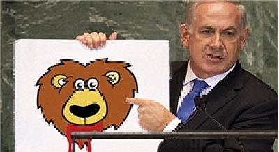 تمام نقاشیهایی که نتانیاهو امسال با خود به سازمان ملل نبرد+عکس